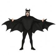 Merkloos Vleermuis verkleed kostuum zwart voor heren