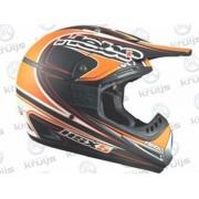 Crosshelm Type: HSX5 Kleur: Oranje/Zwart Maat: XS FI