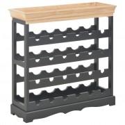 vidaXL Шкаф за вино, черен, 70x22,5x70,5 см, МДФ