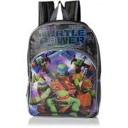"""Teenage Mutant Ninja Turtles Big Boys Turtle Power 16"""" Light Up Backpack"""