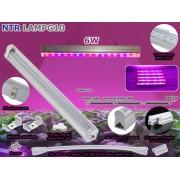 NTR LAMPG10 6W LED növény nevelő lámpa 11db piros és 4db kék SMD5730 LED IP65 230V