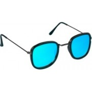 TheWhoop Retro Square Sunglasses(Blue)