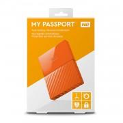 WESTERN DIGITAL External HDD|WESTERN DIGITAL|My Passport|1TB|USB 3.0|Colour Orange|WDBYNN0010BOR-WESN
