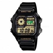 Casio AE1200WH-1BVDF reloj de alarma digital - negro (sin caja)