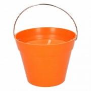 Geen Citronella kaars 14 cm oranje