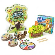 Sneaky Snacky Squirrel Game and Cat-tastrophe! Family Board Games Bundle by Educational Insights and Imagination Generation