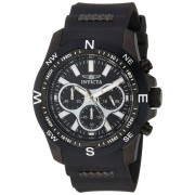 Invicta Watches Invicta Men's 'I-Force' Quartz Stainless Steel and Silicone Casual Watch ColorBlack (Model 22683) BlackBlack