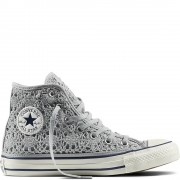 CONVERSE ALL STAR CT AS HI CROCHET SILVER WHT NAVY
