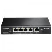 Edimax ES-5104PH Switch a 5 porte Fast Ethernet con 4 porte PoE+, Nero
