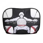 Alcoa Prime Portable Folding Football Target Training Boy Girl Practice Soccer Goal Red