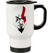 Caneca Térmica Branca A Face de Kratos