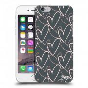 Átlátszó szilikon tok az alábbi mobiltelefonokra Apple iPhone 6/6S - Lots of love