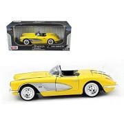 1958 Chevrolet Corvette Yellow 1/18 by Motormax 73109