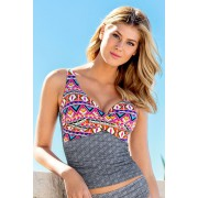Womens Quayside Secret Support Wrap Camisole - Paisley Print