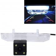 720 × 540 Eficaz Pixel NTSC PAL 50Hz / 60Hz CMOS II Impermeable Coche Camara De Vista Trasera Backup Con 4 Lámparas LED Para 2010 - 2013 Version Fox Sedan