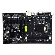 crMXeatYspaceMX Placa Base H81-Btc 1150 Ddr3 Tarjeta de minería de 6 Tarjetas para Intel Lga 775/1150/1151/1155 Socket Ddr3 Pci-E X16 Sata 3 USB