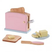 KidKraft Wooden New Toaster Set - Pastel