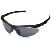 Tifosi Slip T-I061 Shield Sunglasses,Pearl White Frame/Smoke, All-condition Red & Clear Lens,One Size
