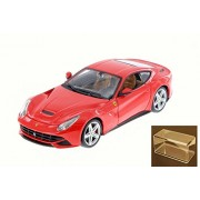 Diecast Car & Accessory Package - F12 Berlinetta, Red - Bburago 26007D - 1/24 Scale Diecast Model Toy Car w/display case