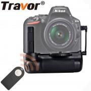 Travor verticale batterij grip houder voor Nikon D5500 D5600 DSLR Camera met IR functie werk met EN-EL14a batterij