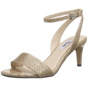 Clarks Women's Champagne Leather Fashion Sandals - 7 UK/India (41 EU)