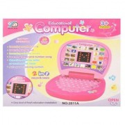 Pink Mini Learning Kids Educational Display Laptop By Signomark