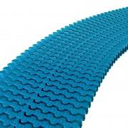 Módulo rejilla transversal azul liner para curvas AstralPool - alto 35 mm, ancho 245 mm