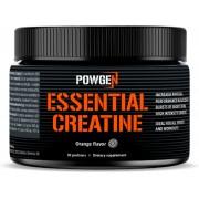 PowGen Essential Creatine Creatina Monohidrato Más energía durante entrenamientos Sabor a naranja 150 g de polvo (5 g por porción)