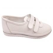 Pantofi sport fete albi din piele naturală