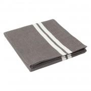 Striped Bordsduk 150x250 cm, Grå/Vit