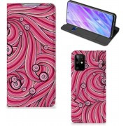 Bookcase Samsung Galaxy S20 Plus Swirl Pink