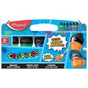 Acuarele guase Color'Peps ultralavabile 75 ml 6 culori/set culori secundare Maped
