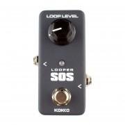 Kokko Flp2 Mini Sos Looper Pedal De Efectos De Guitarra Bucle De Grabacion Monoblock (negro)