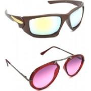 Hrinkar Sports Sunglasses(Silver, Pink)