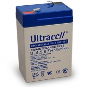 Batteria al Piombo AGM Professionale UL4.5-6 Ultracell UK 6V DC 4.5AH 4,5AH
