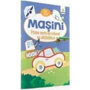 Masini - Prima carte de colorat cu abtibilduri