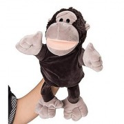 Flexibuy 12 Babies Toddlers Velour Cute Black Gorilla Chimpanzee Ape Full Body Hand Puppet Toys