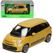 New 1:24 W/B Welly Collection Yellow 2013 Fiat 500 L Diecast Model Car By Welly