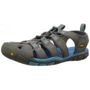 KEEN Women's Clearwater CNX Sandal,Gargoyle/Norse Blue,5.5 M US