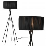 [lux.pro]® Lámpara de pie 'Black Mikado' - bombilla excluida - E27 / 60 W / 230 V - Negro (155cm - 48 cm) - design