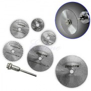 Mini HSS Circular Saw Blade Set Rotary Tool Accessory and 1 Mandrel New