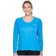 Nike Dry Miler Long Sleeve Running Top (Size 1X-3X) Light Photo Blue