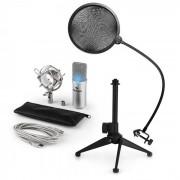 Auna MIC-900S LED USB Set de micrófonos V2 3 piezas con soporte (60001947-V2)