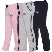 Vimal-Jonney Multicolor Cotton Blended Trackpants For Girls(Pack Of 3)