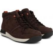 Clarks Johto Hi GTX Dark Brown Nub Boots For Men(Brown)