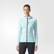 adidas Terrex TraceRocker Hooded Fleece Jacket W Błękitna