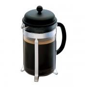 Bodum CAFFETTIERA Cafetière à piston avec couvercle en plastique, 12 tasses, 1.5 l Noir