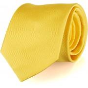 Krawatte Seide Gelb Uni F70 - Gelb