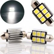 Set becuri LED SOFIT 39mm 6smd CanBus 12v lumina alba