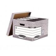 Fellowes Scatola di archiviazione documenti Grigio , 6 compartimenti, Cartone riciclato, 181201